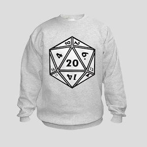 D20 White Kids Sweatshirt