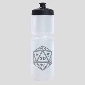 D20 White Sports Bottle