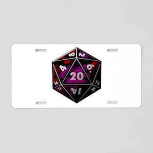 D20 color Aluminum License Plate
