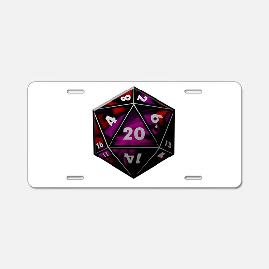 D20 color Aluminum License Plate