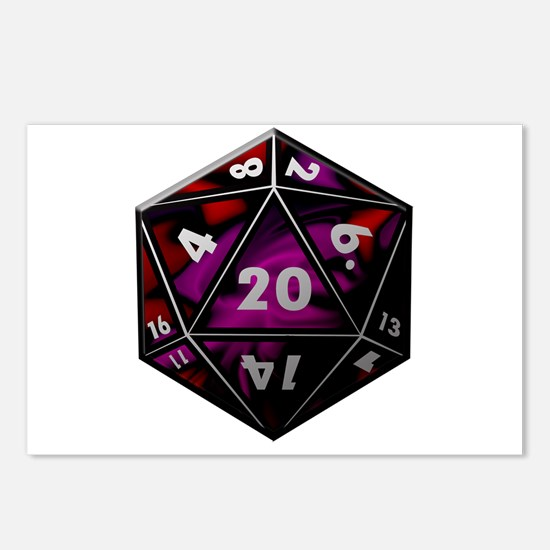 D20 color Postcards (Package of 8)