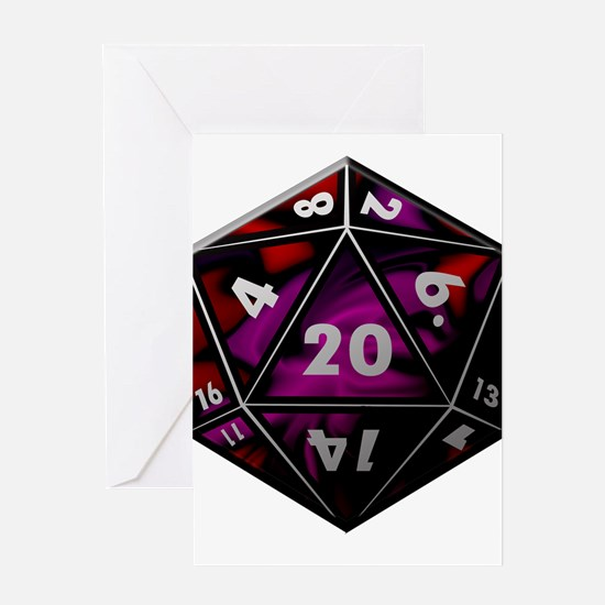D20 color Greeting Cards