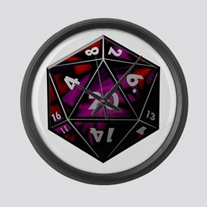 D20 color Large Wall Clock