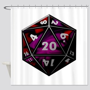 D20 color Shower Curtain
