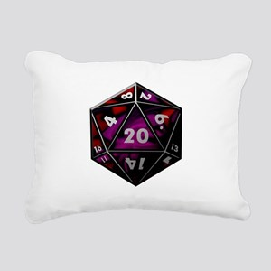 D20 color Rectangular Canvas Pillow