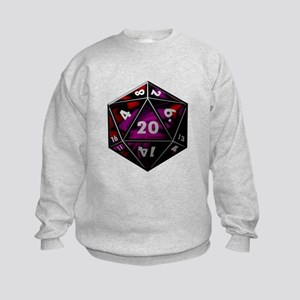 D20 color Kids Sweatshirt