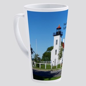 Sand Point Lighthouse 17 Oz Latte Mug