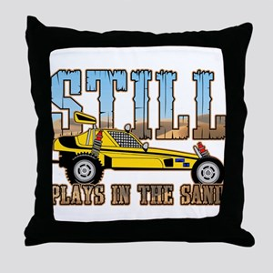 Still Plays in the Sand Dune Buggy Throw Pillow