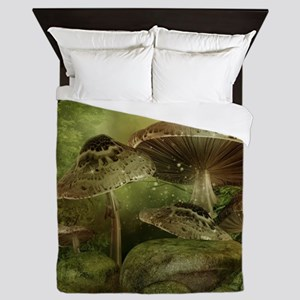 Enchanted Mushrooms Queen Duvet