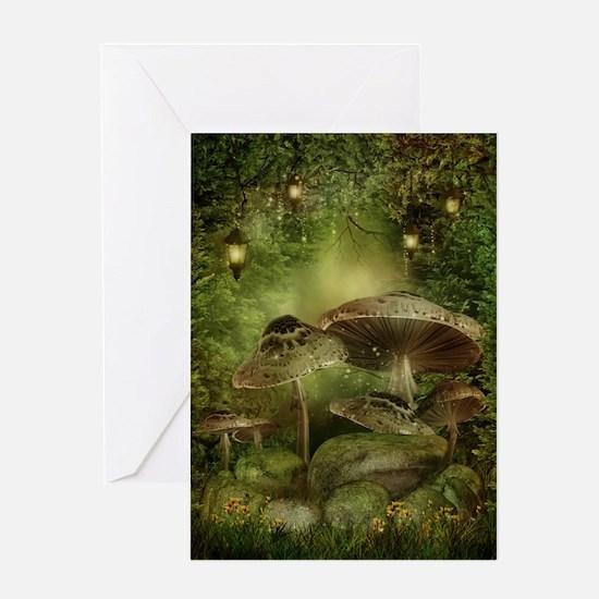 Enchanted Mushrooms Greeting Card
