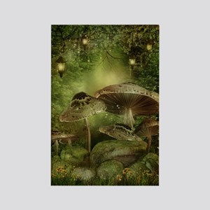 Enchanted Mushrooms Rectangle Magnet