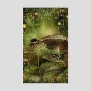 Enchanted Mushrooms Sticker (Rectangle)