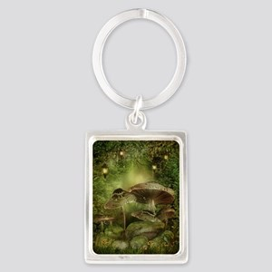Enchanted Mushrooms Portrait Keychain