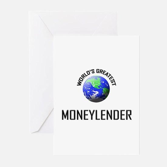 World's Greatest MONEYLENDER Greeting Cards (Pk of