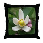 Lemon Blossom Throw Pillow
