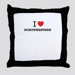 I Love NORTHWESTERN Throw Pillow