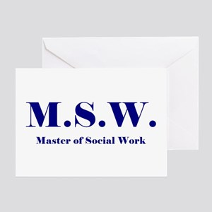 MSW (Design 2) Greeting Card