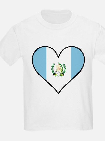 Guatemalan Flag Heart T-Shirt