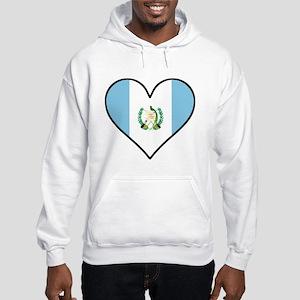 Guatemalan Flag Heart Sweatshirt