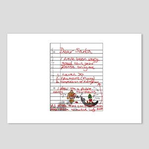 Geek Gamer Santa List Postcards (Package of 8)