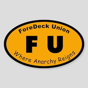 ForeDeck Union Sticker (Oval)