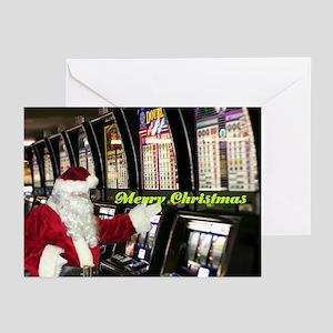 Merry Santa Slot Player Christmas Cards 10