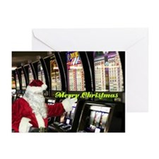 Merry Santa Slot Player Christmas Cards 10