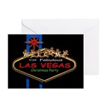 Las Vegas Gingerbread Man Christmas Party Card