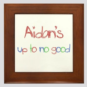 Aidan's Up To No Good Framed Tile