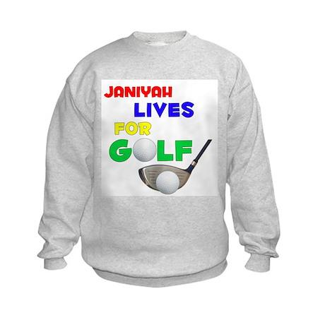 Janiyah Lives for Golf - Kids Sweatshirt
