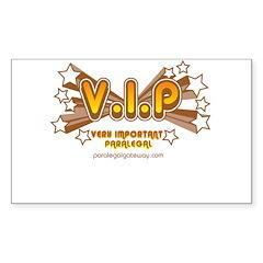 VIP Orange Rectangle Decal