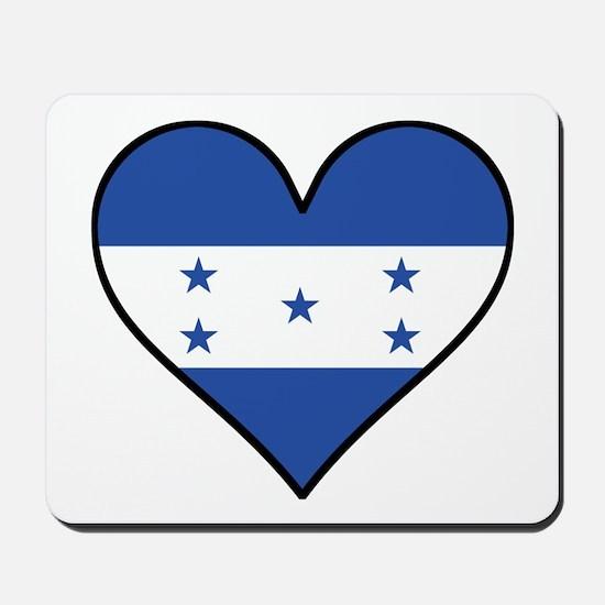Honduran Flag Heart Mousepad