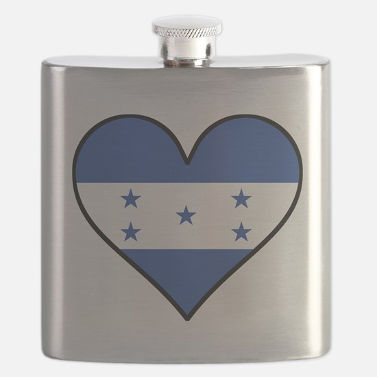 Honduran Flag Heart Flask