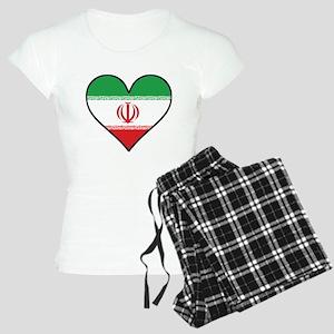 Iranian Flag Heart Pajamas