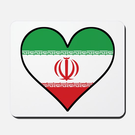 Iranian Flag Heart Mousepad