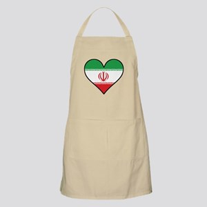 Iranian Flag Heart Light Apron