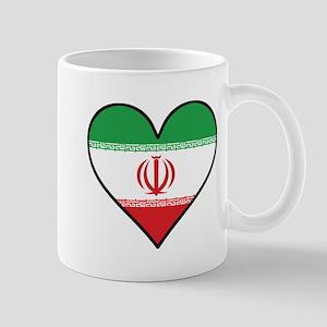 Iranian Flag Heart Mugs