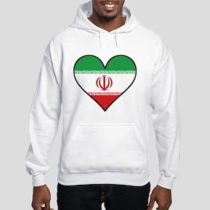 Iranian Flag Heart Sweatshirt