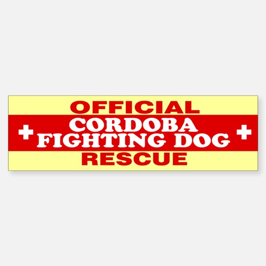 CORDOBA FIGHTING DOG Bumper Bumper Bumper Sticker