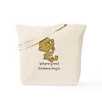 Thinker Baby Tote Bag