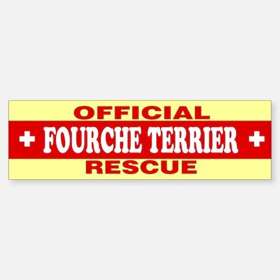 FOURCHE TERRIER Bumper Bumper Bumper Sticker
