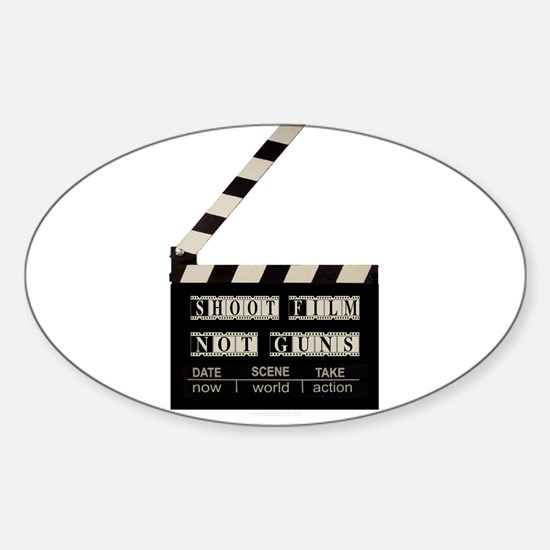 Shoot film, not guns Oval Decal