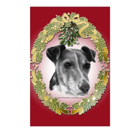 Fox Terrier Christmas Postcards (Package of 8)