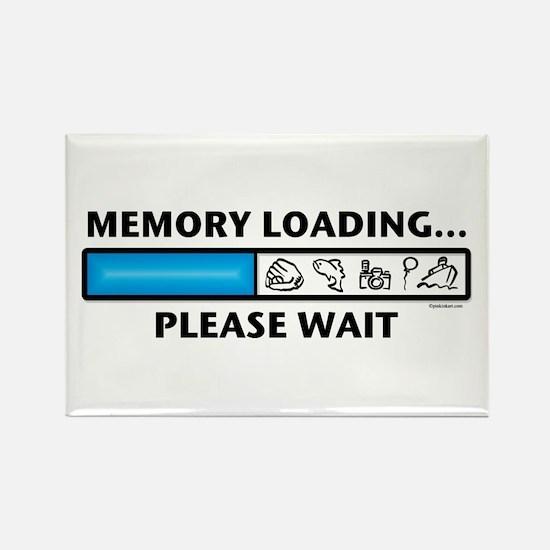 Memory Loading Guy Rectangle Magnet