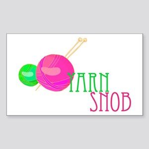 Yarn Snob Rectangle Sticker