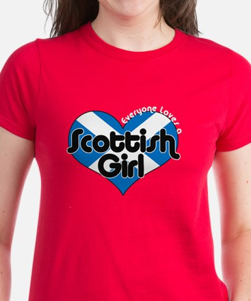 Scottish Girl Women's Dark T-Shirt