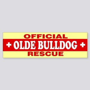 OLDE BULLDOG Bumper Sticker