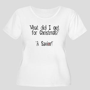 Christmas Savior Women's Plus Size Scoop Neck T-Sh