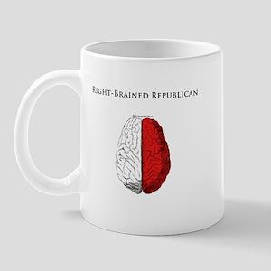 Right-Brained Republican Mug