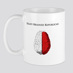 Right-Brained Republican Mug